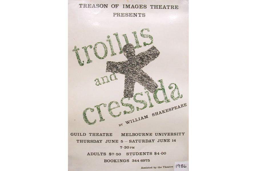 Poster advertising director Barrie Kosky's 1986 production of Troilus and Cressida